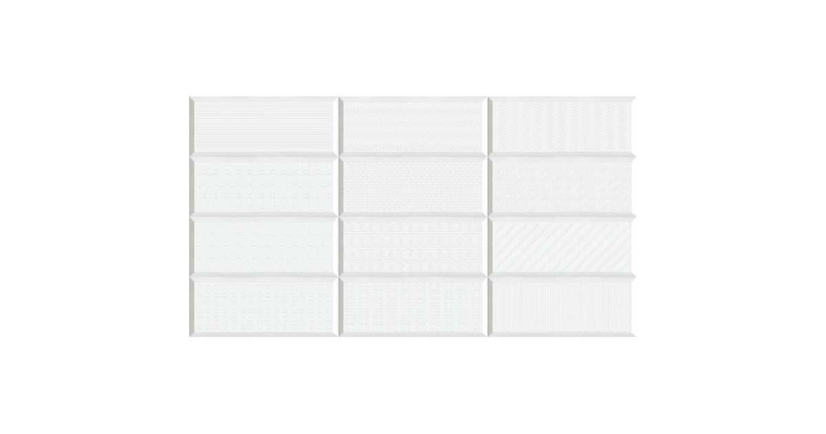 Vives Gran Mugat Yoses Blanco 20x50cm Płytka ścienna